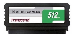 Ide Flash Module Dom 40 Pinos 512mb Transcend Ts512mdom40v-s