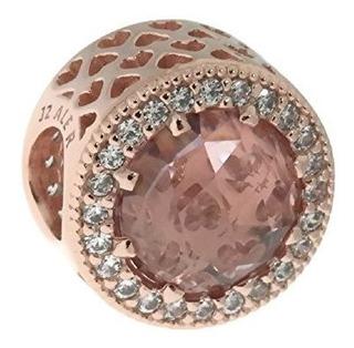 Pandora Charm En Pandora Rose Con Cristales Blush Pink Y Cle