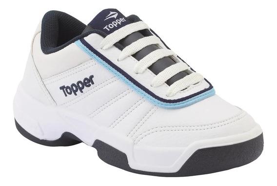 Zapatillas Topper Tie Break Escolar Blancas ¡¡envío Gratis!!