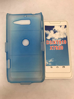 Protector De Plástico Azul Para Motorola D3/xt919/xt920