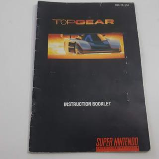 Manual Top Gear Perfeito Super Nintendo Snes | Carta?