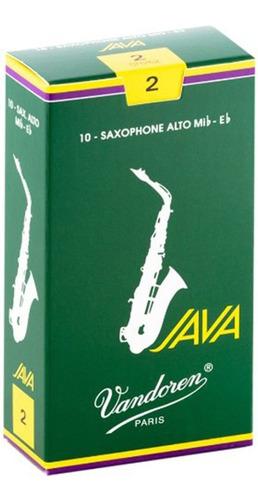 Pack De Cañas Vandoren Java Sr262 De Saxo Alto N2 X10u
