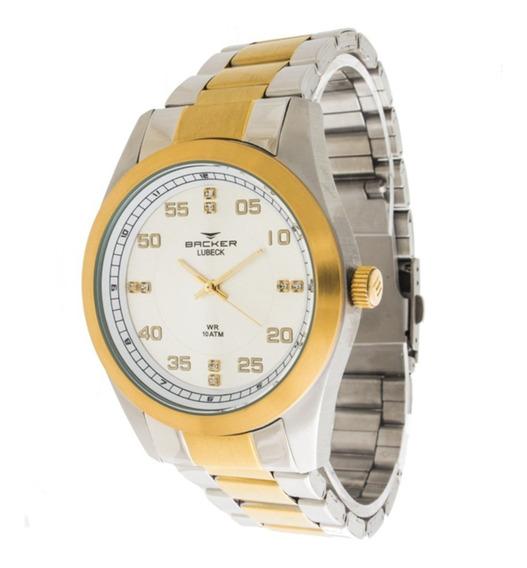 Relógio Backer Lubeck - 6306164m + Nf-e