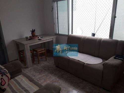 Imagem 1 de 10 de Apartamento Com 2 Dormitórios Para Alugar, 60 M² Por R$ 1.600,00/mês - Canto Do Forte - Praia Grande/sp - Ap0710