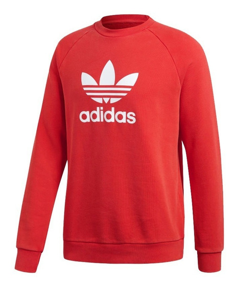 Moletom adidas Originals Warm-upcrew Trefoil(original)dh5826