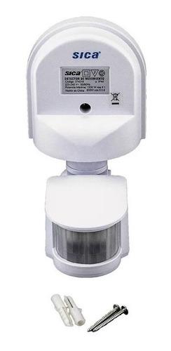 Imagen 1 de 9 de Detector De Movimiento Pared Blanco 180º 1200w 8m Sica
