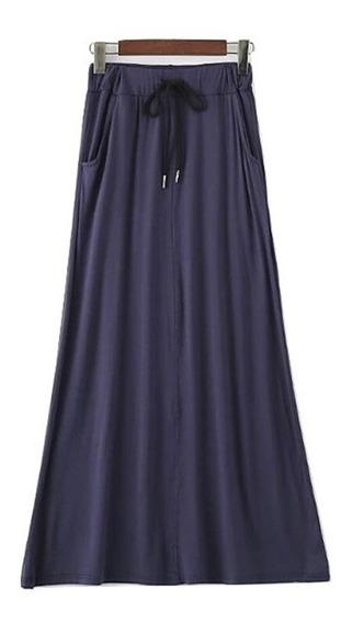Falda Larga Con Elastico Y Cuenda P/ Ajustar Para Mujer 5501