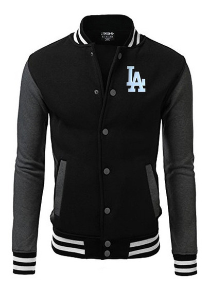 Jaqueta Blusa Baseball La Bordado Black Edition Americana