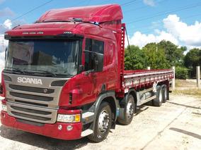 Scania P-310,ano:16,vermelho,bi-truck 8x2,carroceria,impecáv