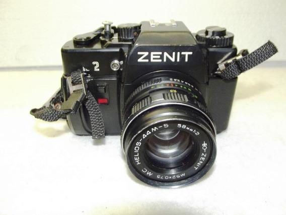Maquina Fotografica Analogica Zenit 122 Lente Helios 44m-5
