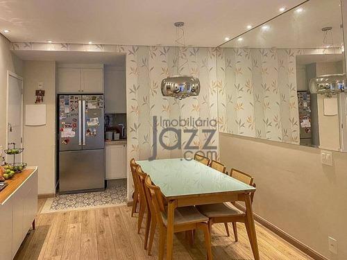 Apartamento Garden Com Quintal, 3 Quartos Sendo Sendo 1 Suíte À Venda, 69 M² Por R$ 580.000 - Jardim Chapadão - Campinas/sp - Ap4768