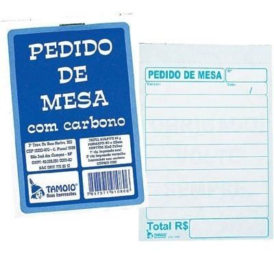 Imagem 1 de 3 de Bloco Pedido 50x2 (110x73) Com Carbono 1080 Tamoio
