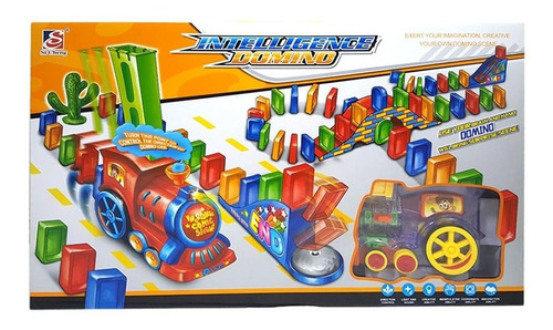 Imagen 1 de 4 de Tren Domino Automático Para Niños,  100 Bloques  - Bestoys