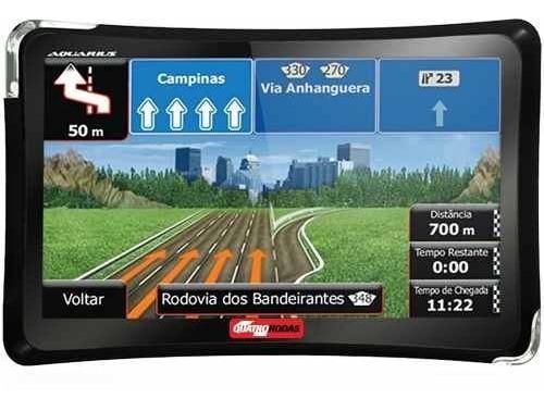 Gps Guia Quatro Rodas Aquarius 4,3 Touch Screen + Tv Usb
