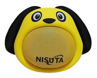 Nisuta Parlante Portatil Bluetooth Perro Amarillo Ns-pa81bp-