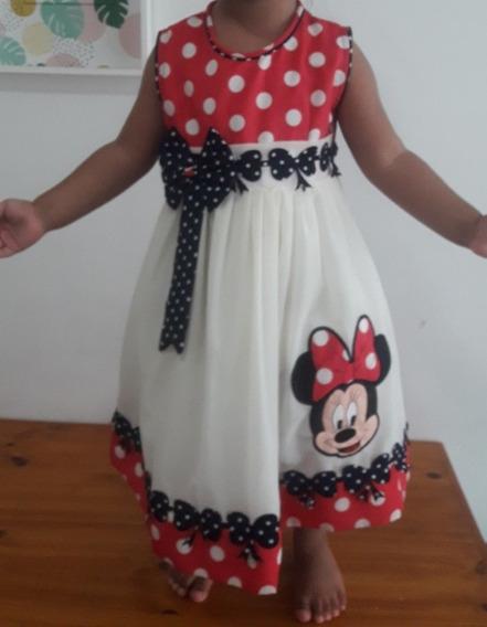 Vestido De Minnie Para Nena De 2- 3 Años
