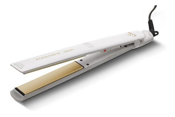 Planchita de pelo GA.MA Italy Argan blanca con placas de turmalina 110V/220V