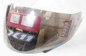 Viseira Capacete X11 Volt Espelhada Cromada Original X11