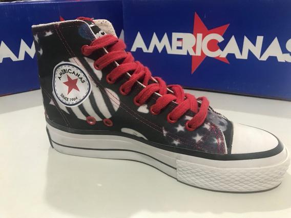 Zapatillas Botitas De Lona Americanas Corazones