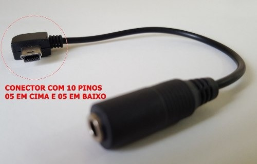 Cabo Adaptador Microfone Gopro 3 3+ 4 Mini Usb 3,5mm Hero