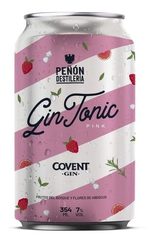 Gin Tonic Pink - Lata X 354ml - Peñón Del Aguila