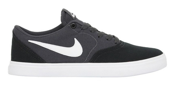Tênis Nike Sb Check Solarsoft Canvas Black White Anthracite