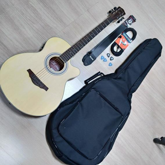 Violão Hofma Hmm-279 Stnt Natural Fosco Afinador Kit