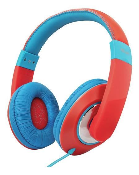 Fone De Ouvido Trust Sonin Kids 23585 Vermelho E Azul