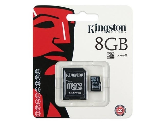 Cartao De Memoria Classe 4 Kingston Sdc4/8gb Micro Sd 8gb Co