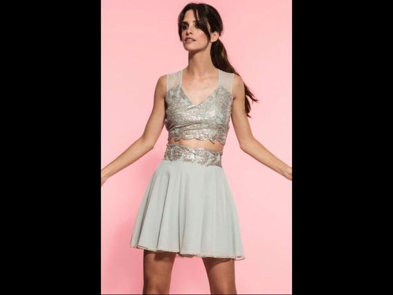 Vestido De Fiesta Corto Aqua Ciara - Premium Nuevo!