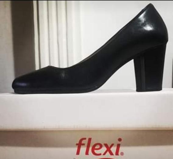 Zapato Flexi Piel 25 Mex Excelente Estado C196