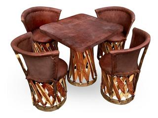 Mesa Con Sillas Equipales Tradicionales Para Restaurante