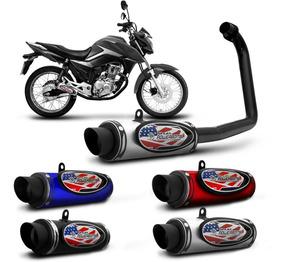 Escapamento Esportivo Moto Honda Cg Start 160 16 A 17 Shutt