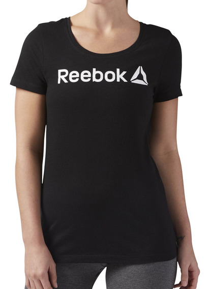 Remera Reebok Training Linear Read Mujer Ng