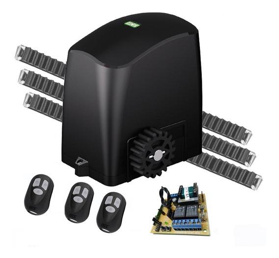 Kit Motor Deslizante 1/4 Rcg Com 3 Controles 3m Cremalheiras