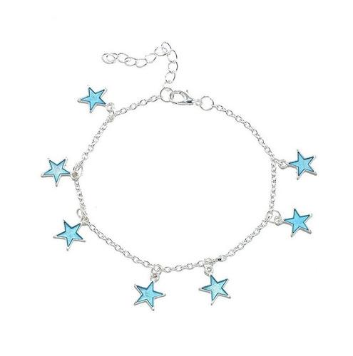 Tobillera Pulsera Estrellas Brilla En La Oscuridad Mujer