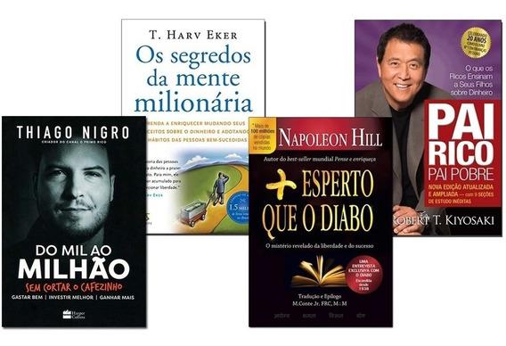 Mente Milionária+ Pai Rico Pai Pobre+ Mais Esperto+ Mil Ao M