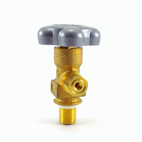 Imagem 1 de 3 de Válvula Co2 3/4 16 Unf P/ Cilindro De Alumínio