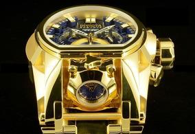 Relogio Dourado Bolt Reserve Zeus Magnum Thunderbolt Luxo