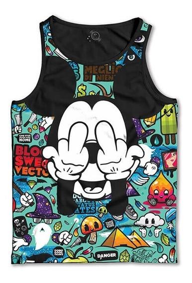 Regata Mickey Fuc** Camiseta Regata Masculina