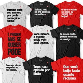 Kit 4 Camisetas Roupa Masculina Se Esta Lendo, É Pq Tem Inte