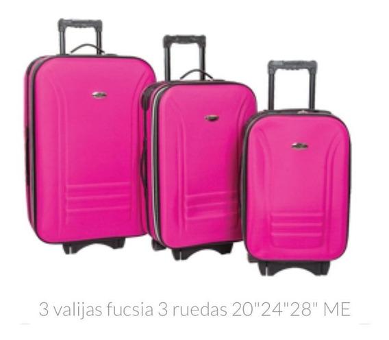 Valija Viaje Grande Premium Kit X3 Fuelle Nueva Oferta Gta