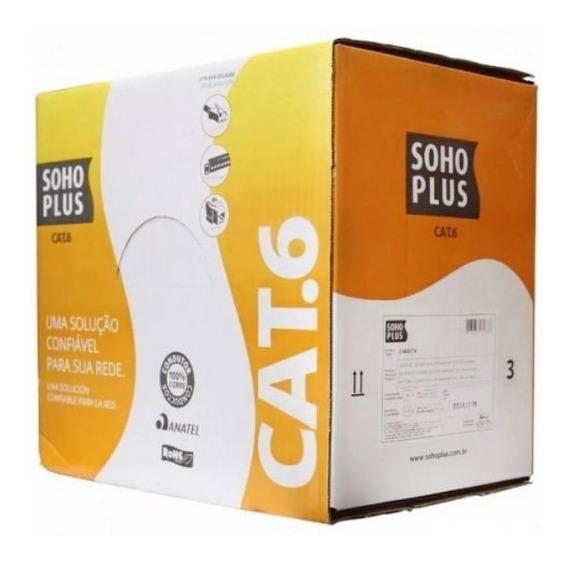 Cabo Utp Cat6 Soho Plus Anatel 100% Cobre (rolo 50 Metros)