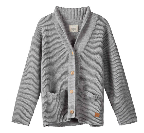 Cardigan Timber Gris Melange Enfans