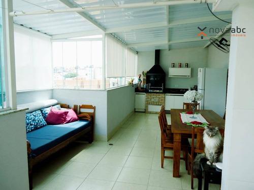 Cobertura Com 2 Dormitórios À Venda, 70 M² Por R$ 600.000 - Vila Francisco Matarazzo - Santo André/sp - Co1078