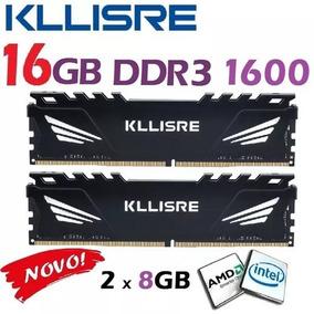 Kit Memória Kllisre Ddr3 16gb (2x8gb) 1600mhz Intel E Amd