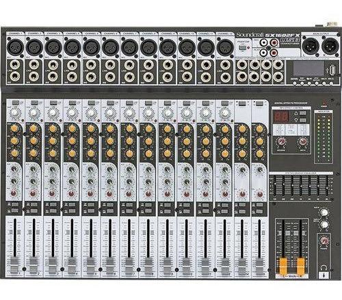 Mesa De Som Soundcraft Sx1602fx Usb Analógico Sx-1602