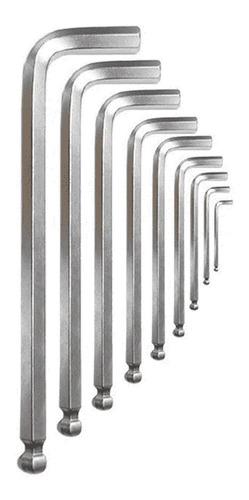 Jogo De Chave Allen Abaulada Extra Longa 1,5 A 10mm 9 Pçs