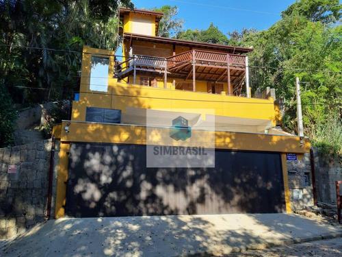 Imagem 1 de 17 de Belíssima Casa Alto Padrão, Em Ubatuba, 3 Suítes, Ampla Vaga Para Lancha, Vista Para Orla De Itaguá. - Ca1336