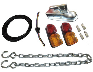 Kit Faros Luces Led Trailer Tortuga Cadena Envio Gratis
